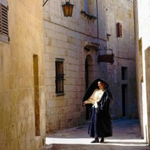 """"""" Ghonella""""  Maltese Traditional Costume."""