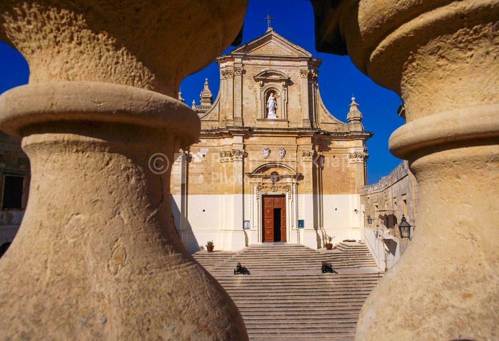 Cathedral dominates the Citadel. Gozo