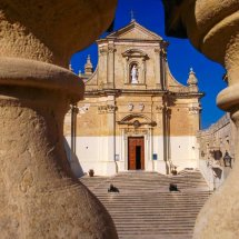 Cathedral dominates the Citadel. Gozo