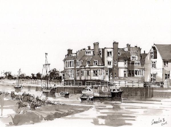Blakeney Norfolk. Ink