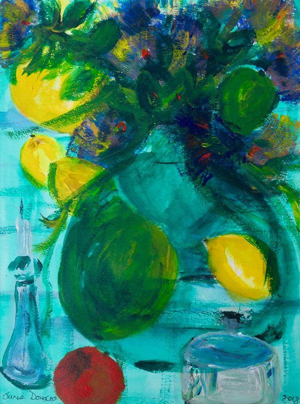 Lemons And Green Pot