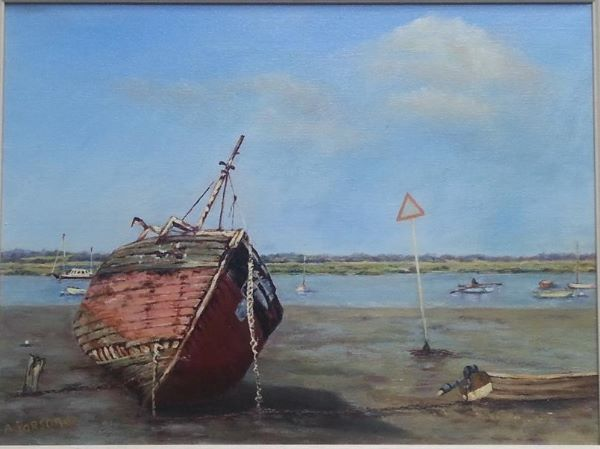 Old Wooden Boat, oil
