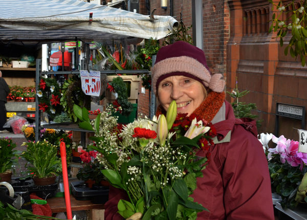 Flower Seller in Surrey Street Market