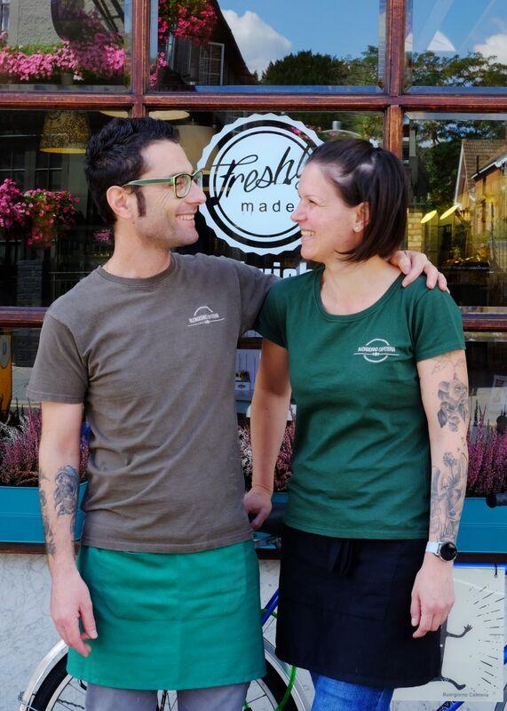 Massimo and Ildiko at Buongiorno Cafeteria