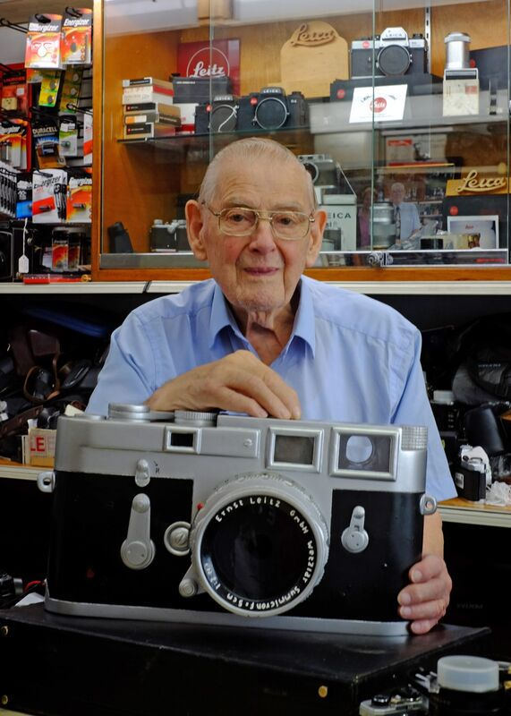 Reg, Octogenarian proprietor of High Street Photographic and all-round fount of knowledge of all things film.