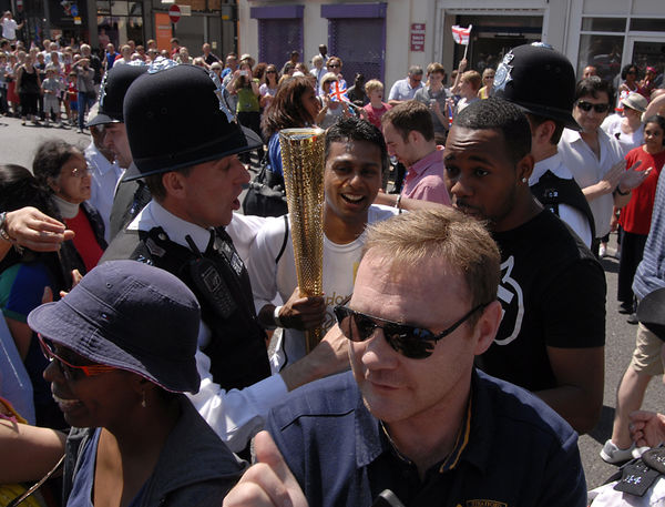The Olympic Torch Comes to Croydon