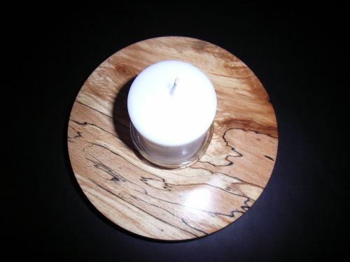 Candlestick Centrepiece : Spalted Beech : 7 inch diameter : Ref 377