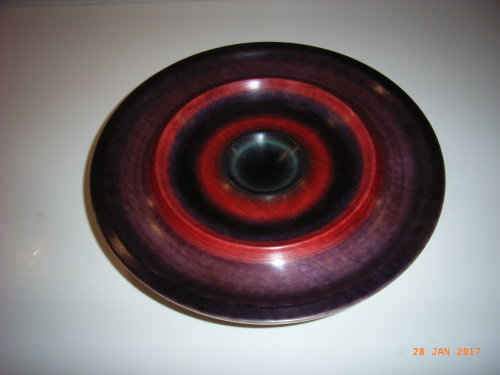 Coloured Bowl :  Sycamore : 12 1/2 inches diameter :  Ref: 581