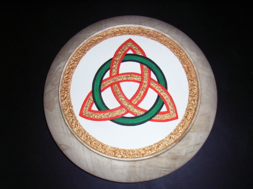 Celtic Eternity Knot : Sycamore : 13 inches diameter : Ref 448
