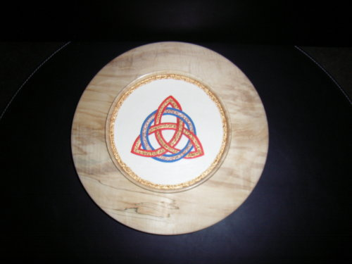 Celtic Eternity Knot : Sycamore : 12 inch diameter : Ref 433