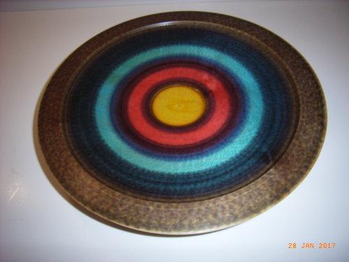 Coloured bowl : Sycamore :  14 1/2 inches diameter : Ref: 212