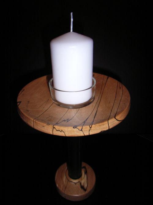 Candleholder : Spalted Beech : Ref: 340