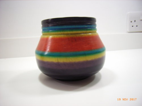 Ornamental bowl : Cherry : 5 ½ inches diameter : 4 ½ inches height : Ref 608-127