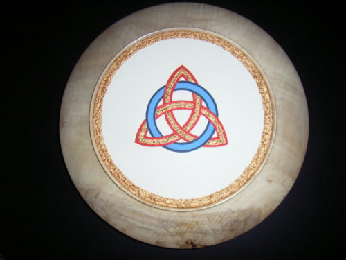 Celtic Eternity Knot : Sycamore : 13 inches diameter : Ref 442