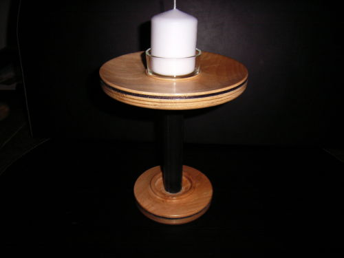 Candlestick : Spalted Beech : Ref 349