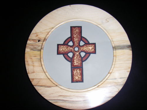 Celtic Cross : Spalted Beech : 10 inch diameter : Ref  331