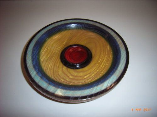 Coloured Platter : Ash : 9 inches diameter : Ref 591