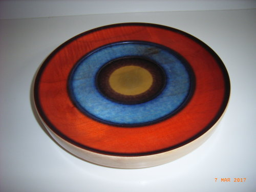 Coloured Platter : Sycamore : 12 1/2 inch diameter : Ref 184