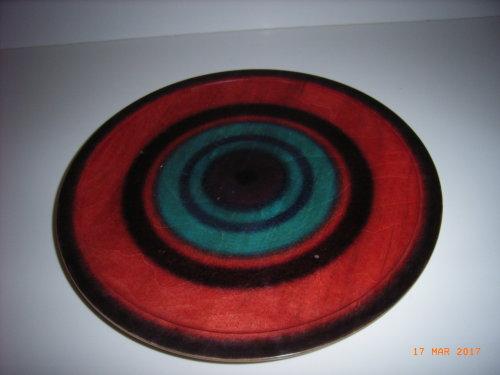 Coloured Platter : Sycamore: 12 inches diameter : Ref 594