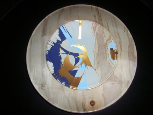 Wall Platter : Sycamore : 13 inches diameter : Ref 100