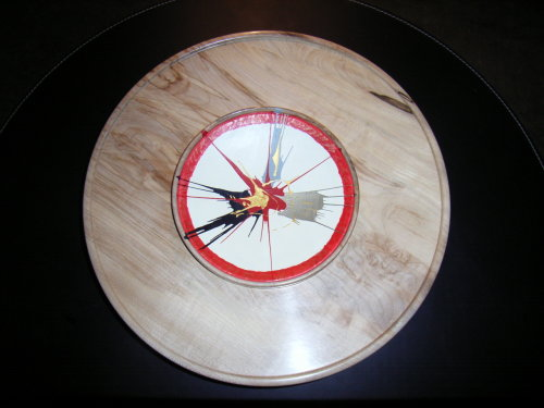 Wall Platter : Sycamore : 15 inches diameter : Ref 111