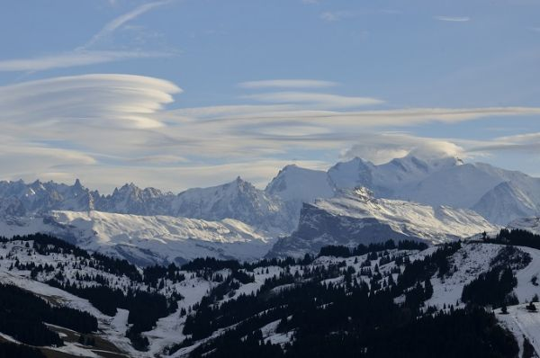 Clouds over Mnt Blanc