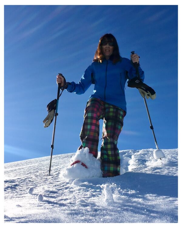 Snow Shoeing with style