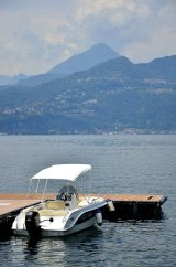Boat for the day on Lake Como, Italy