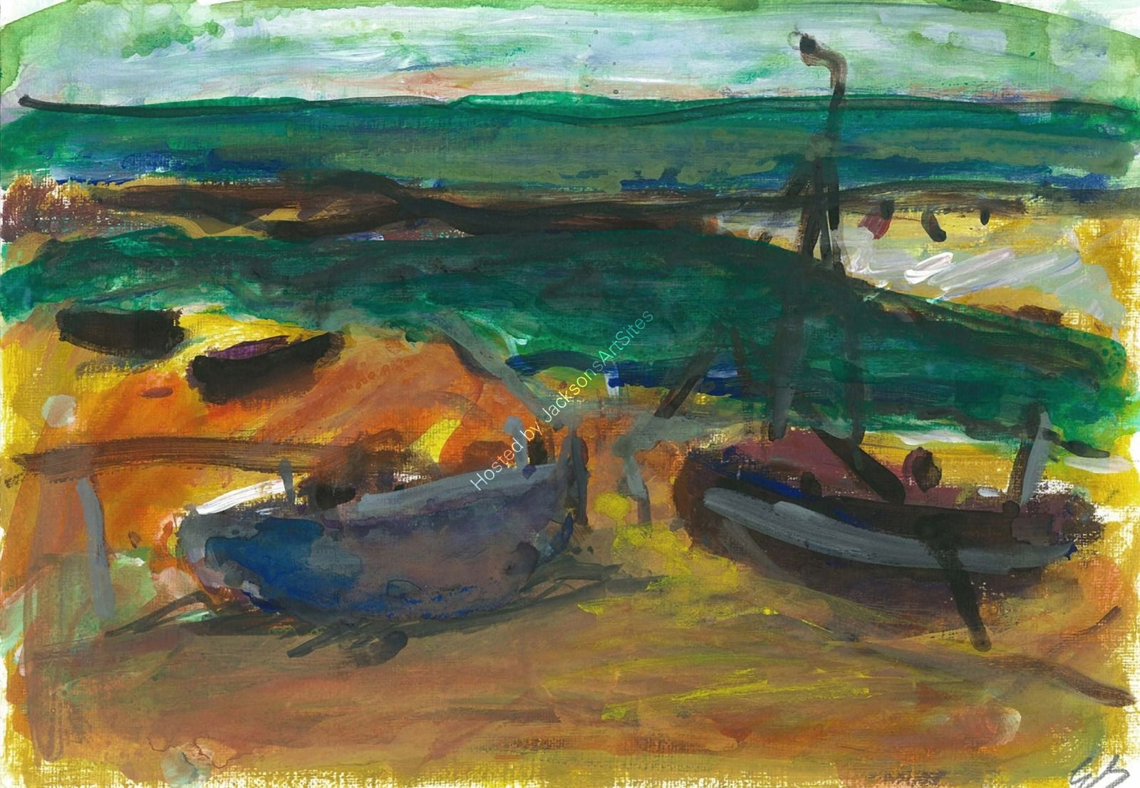 Boats on Hastings Beach*