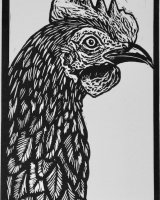 Day 5 - Chicken, Limited edition of 10 prints, w.6.8 x h.10cm (unmounted)