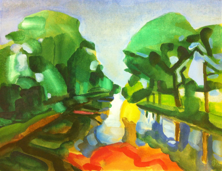 Endrick from Bridge - Watercolour