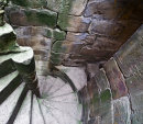 Spiral stairs, Whorlton Castle