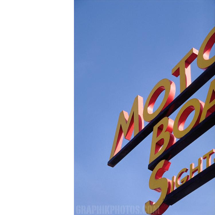 Motor boat sign