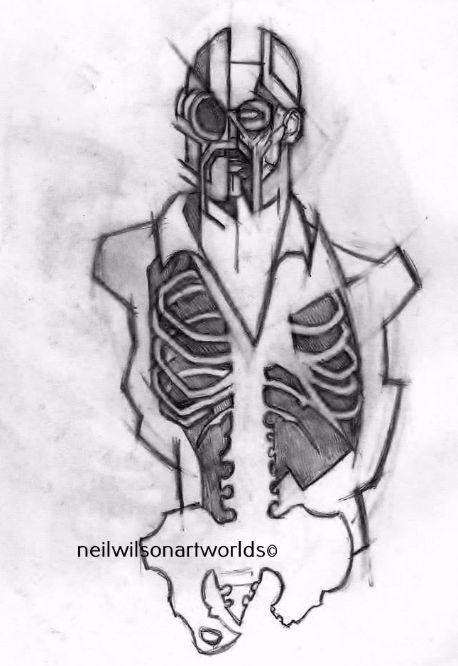 Male Anatomical Study 6, 2013. (Pencils).  210mm x 297mm.