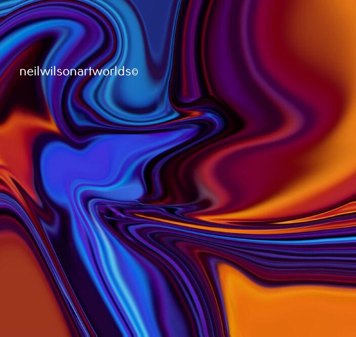 Azul 6, 2020. (Digitally manipulated found image).