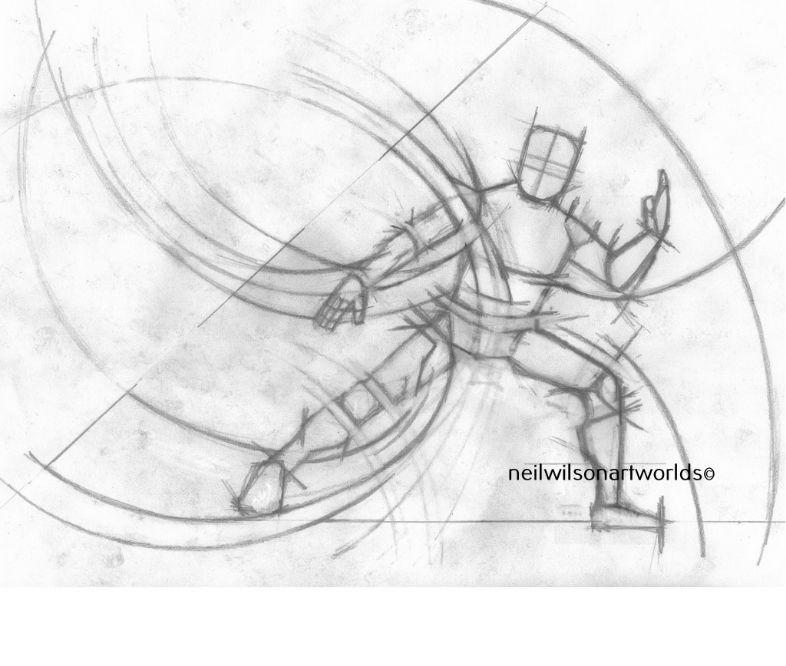Spiral Form 1, 2017, (Pencils).  210mm x 297mm.