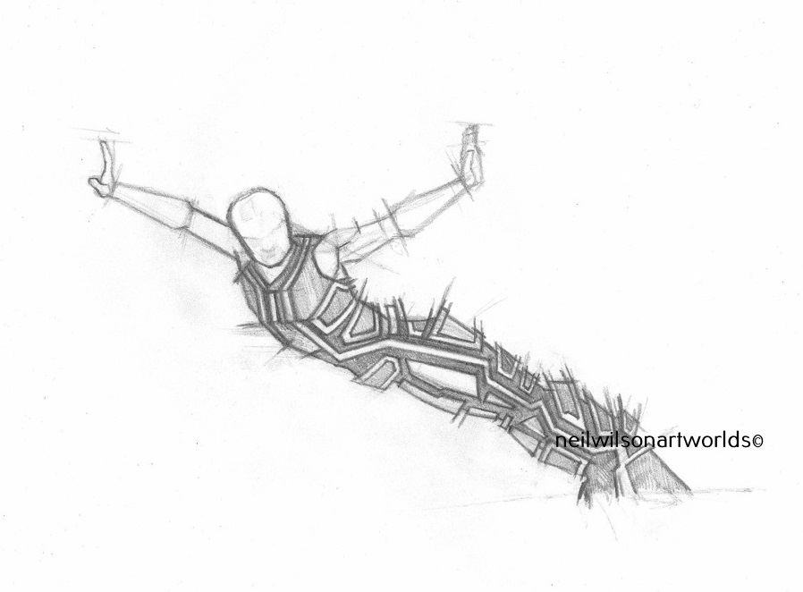 Balance Construct 1, 2016, (Pencils).  210mm x 297mm.