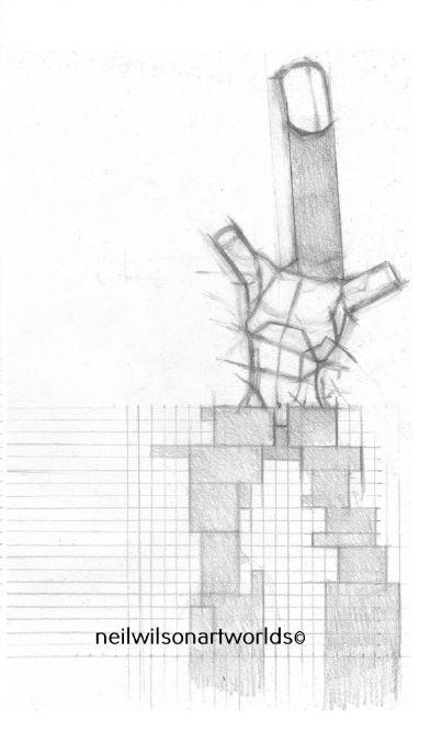 Reaching Construct, 2016. (Pencils).  210mm x 297mm.