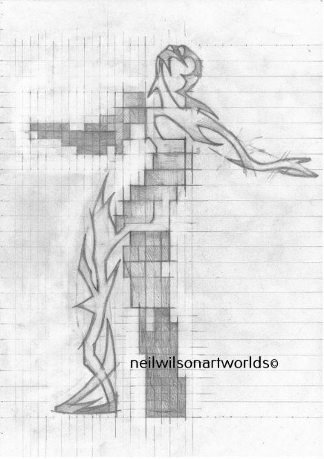 Seeking Construct 3, 2017. (Pencils).  210mm x 297mm.