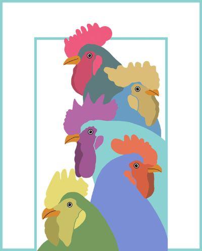 A Collection Of Coloured Cockerels