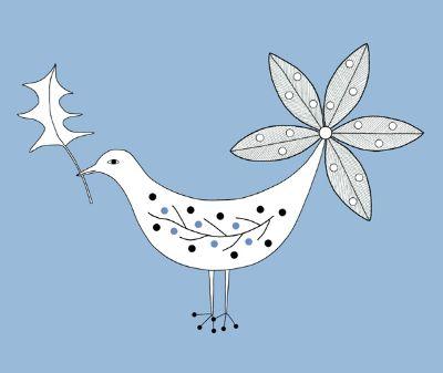 Christmas Bird (Blue)