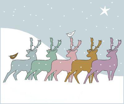 Christmas Deer (Pastel)