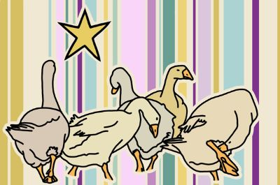 Five Geese Striped