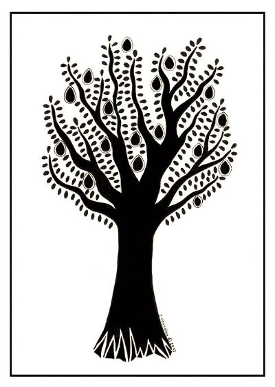 Stylised Fruit Tree