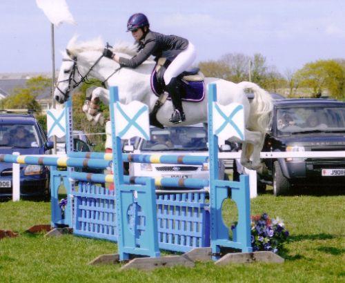 Ballinruane Boy Jumping in Jersey, 2011