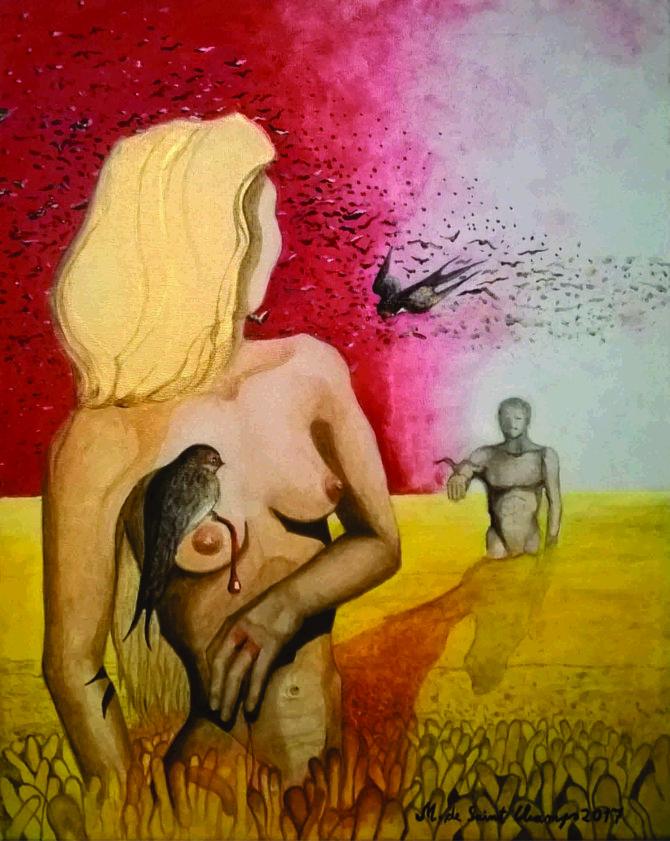 Ripen wheat, acrylics on canvas, 40x50 cm2
