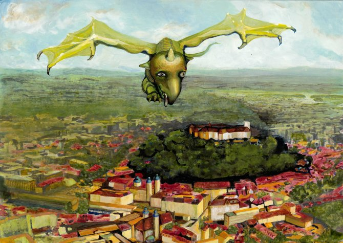 Dragon protecting the city of Ljubljana