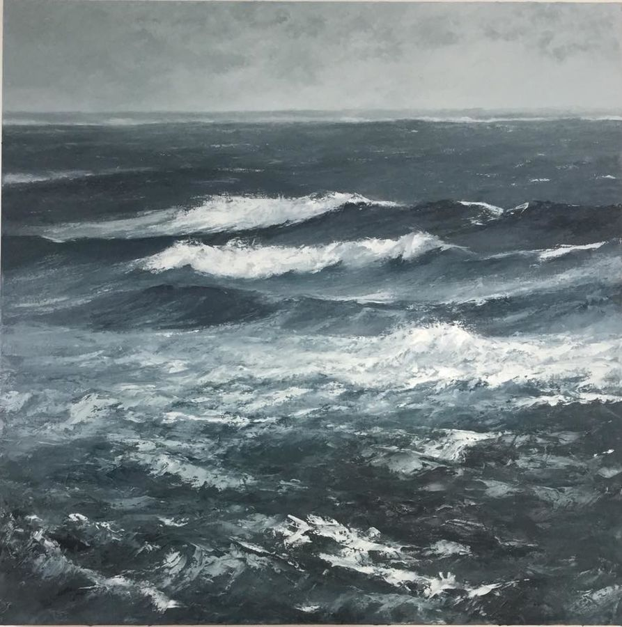 The roar of the wind on a driving tide