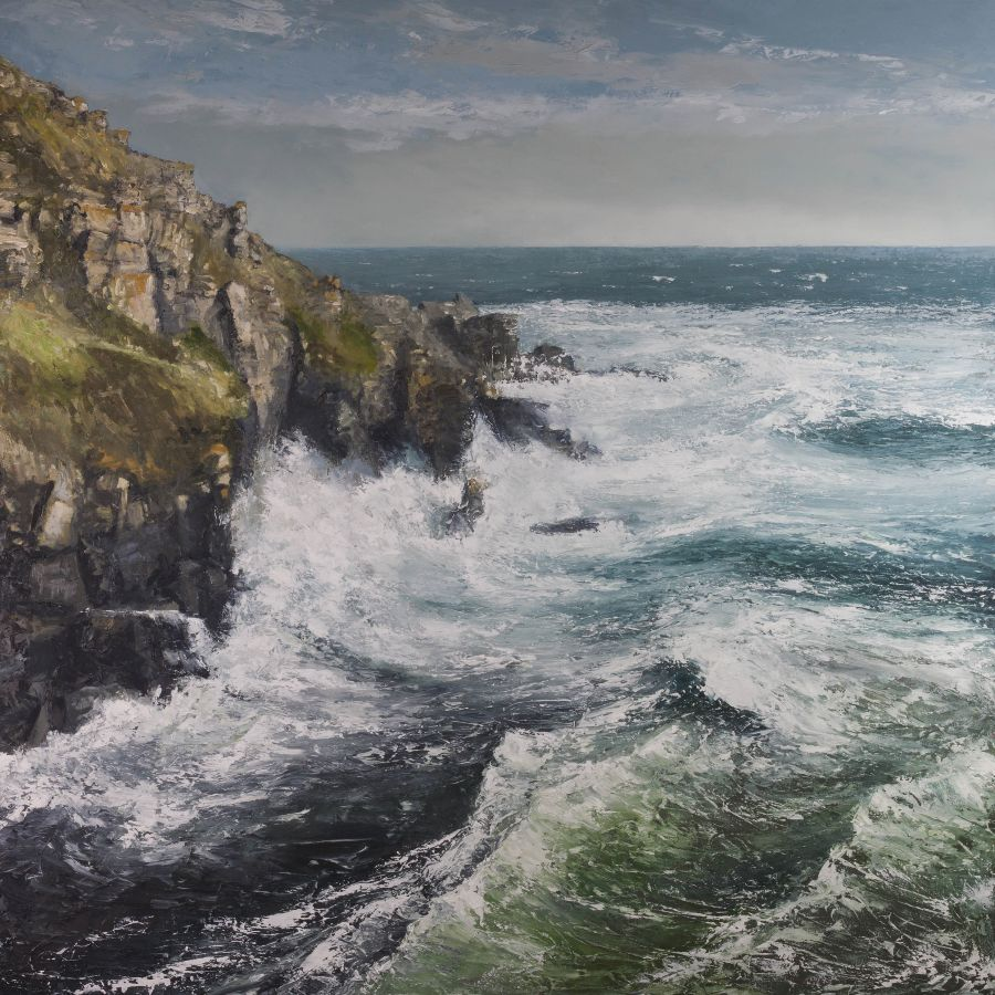 First storm of the season, lizard point
