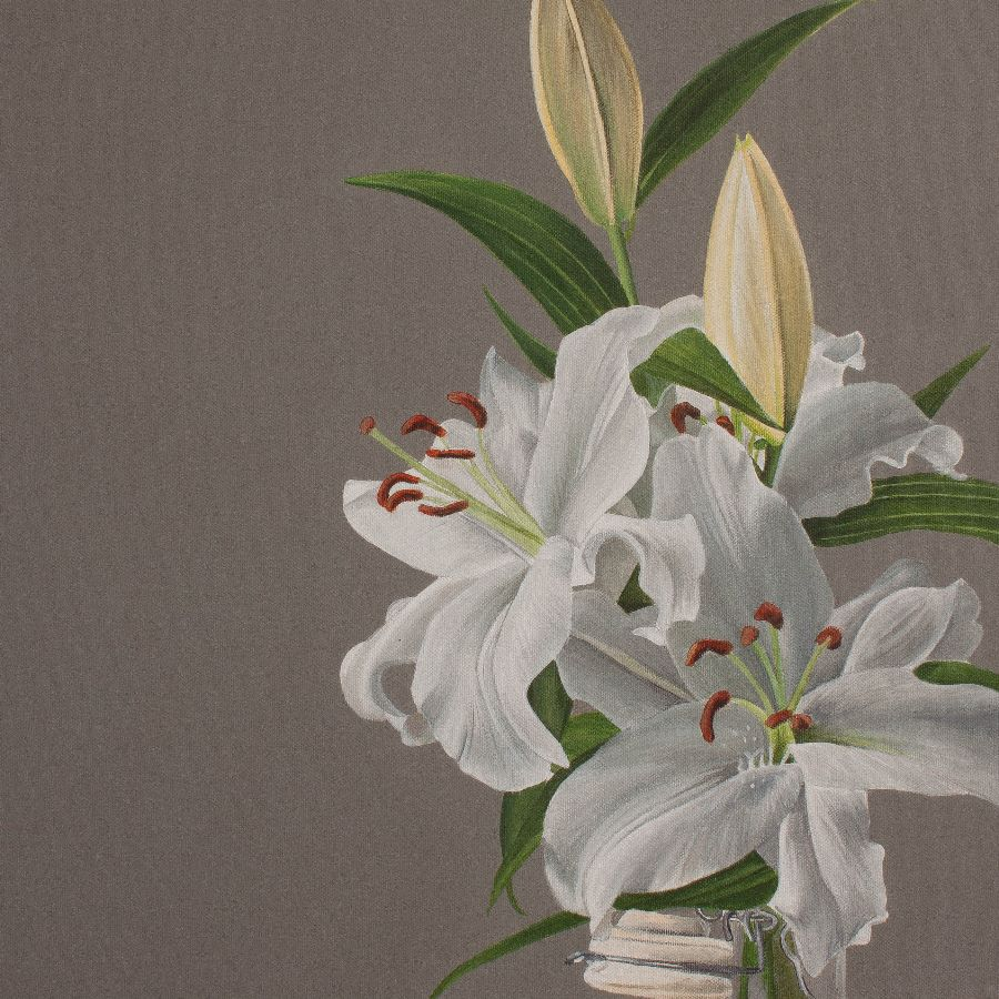 Lillies on grey